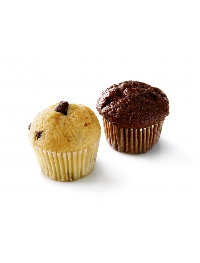 Mini muffin con chocolate y vainilla, 15g