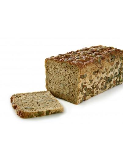 Pan con pipas de calabaza cortado, 750g